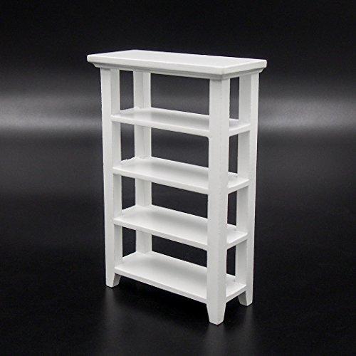Scale Miniature Dollhouse Book (Odoria 1:12 Miniature Wooden Storage Bookshelf Display Rack Dollhouse Furniture Accessories)