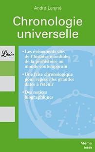 Chronologie universelle par André Larané