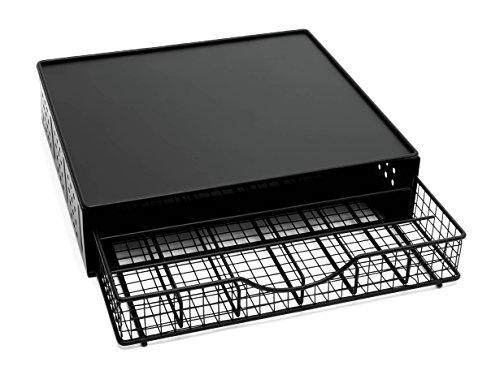 Lipper International 8662 Coffee Pod Storage Drawer with Stand, 36-Pod Capacity, Black by Lipper International