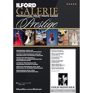 ILFORD 2002419 GALERIE Prestige Gold Mono Silk - 8.5 x 11 Inches, 25 - Gold Silk Fiber