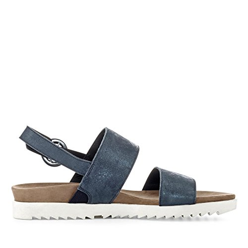 Paul Green Sandale Blau Metallic