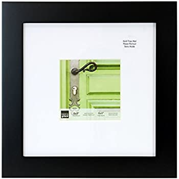 kiera grace smartphone and instagram langford picture frame 8 by 8 inch matted for 4 by 4 inch photo black