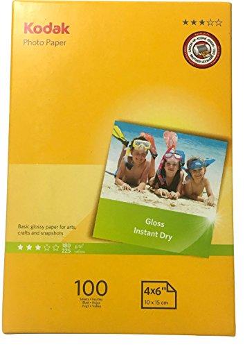 """Kodak Inkjet Glossy Photo Paper 4"""" x 6"""" 100 Sheets"""