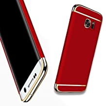 For Galaxy NOTE 5 Case,JOBSS Hybrid Luxury Shockproof Armor Back Ultra-thin Case Cover Removable case for Samsung Galaxy NOTE 5 Red