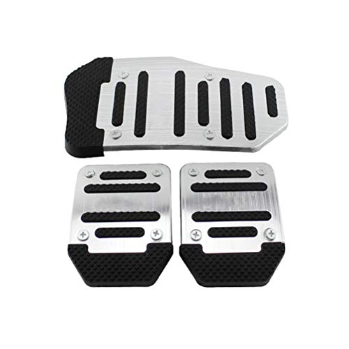 Viviance 1 Set 3Pcs Non-slip Footrests Aluminum Alloy Car Foot Treadle Pedals Cover Pad Blue