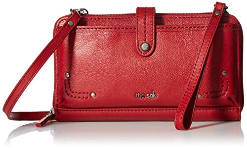 The Sak Iris Large Smartphone Crossbody-Solid, Scarlet