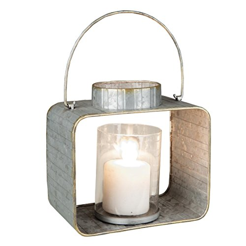 Foreside Home & Garden Foreside Small Galvanized Candle