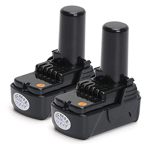 PowerGiant 10.8V-12V 2.0Ah Li-ion Battery for Hitachi BCL1015S, BCL1015, BCL 1015, 331065, 329369, 329370, 329371, 329389 (2 Pack)