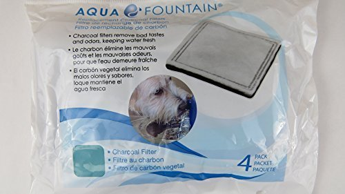 Aqua Fountain Replacement Charcoal Filters - 8 Filters (2 Bags with 4 Filters each (Aqua Fountain)
