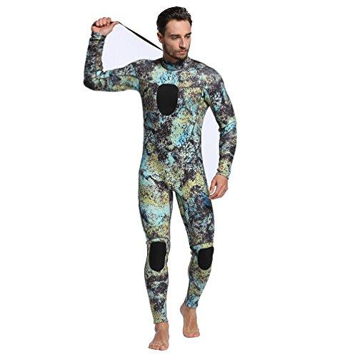 Wetsuits Mens 3MM Camo Neoprene scuba diving unisex One Piece Sport Skin...