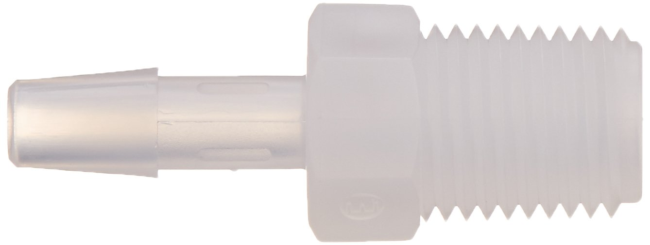 1//4-18 NPT Thread Eldon James A4-4S80PP Non-Animal Derived Polypropylene Schedule 80 Barbed Adapter 1//4 Hose Barb Pack of 10