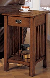 Telephone Stand With Drawer In Oak Finish By Furniture Of America