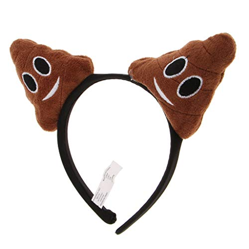 Funny Poo Birthday Headband Women Girls Emoticon Poop Party Hair Band Gift ()