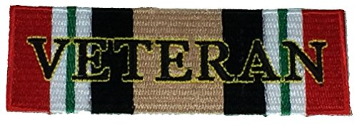 (OPERATION IRAQI FREEDOM VETERAN WITH CAMPAIGN RIBBON PATCH - Multi-Color - Veteran Owned Business)