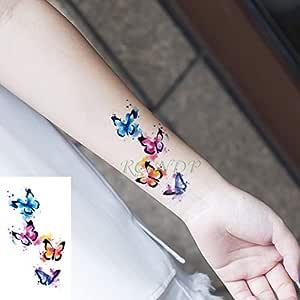 ljmljm 5 Piezas Pegatinas de Tatuaje a Prueba de Agua Copo de ...