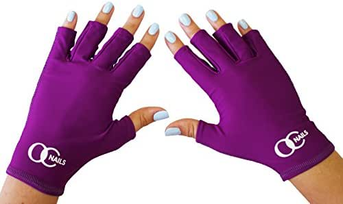 OC Nails UV Shield Glove Anti UV Glove for Gel Manicures with UV/LED Lamps