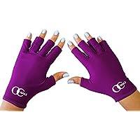 OC Nails Guante Protector de UV para la manicure de gel con UV/Lámparas LED (Color: Amatista)