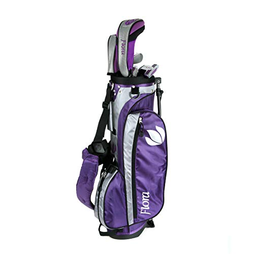 Intech Flora Junior Girls Golf Club Set (Right-Handed, Age 8-12) - Golf Girls Golf Bag
