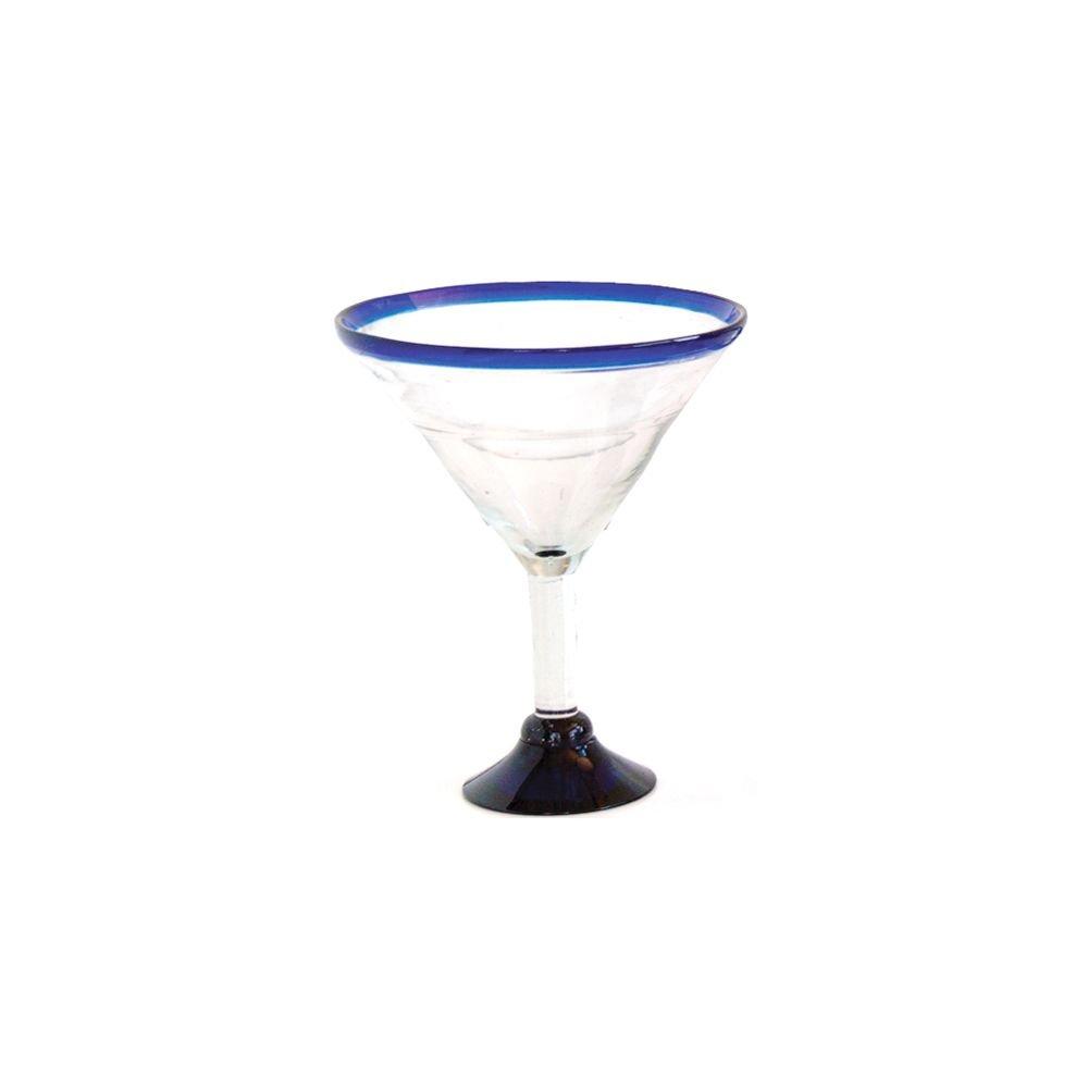 Orion Trading G808-CR 32 Oz. Jumbo Cobalt Rim Margarita Glass