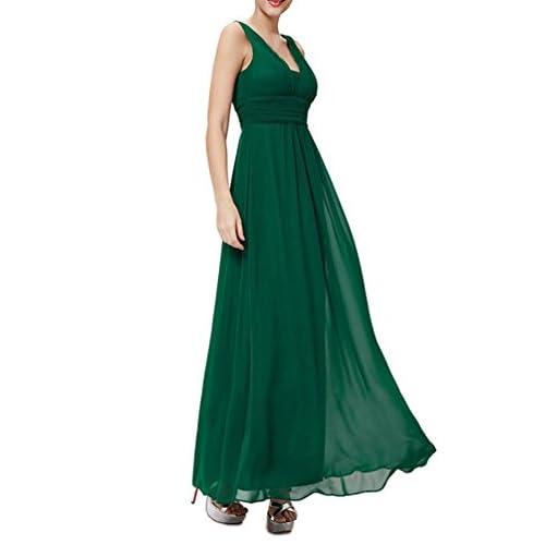 9368cf672ec6 Barato Vestidos Largos Verano Mujer Fiesta Elegante Chiffon Tul ...