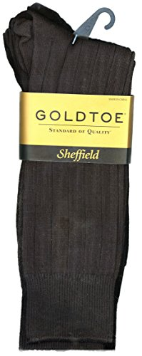Gold Toe Mens 4-Pair Sheffield Premium Pima Cotton Trouser Socks - Black
