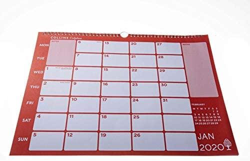 Collins Colplan CMC 2021 Calendario de notas color negro A3