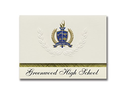 Signature Announcements Greenwood High School (Bowling Green, KY) Graduation Announcements, Presidential style, Elite package of 25 with Gold & Blue Metallic Foil ()