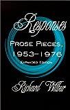 Responses, Richard Wilbur, 1885266820