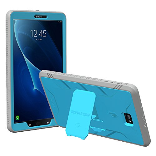 Poetic Revolution Heavy Duty Protection Hybrid Case with Built-in Screen Protector and Kickstand for Samsung Galaxy Tab A 10.1 Blue/Gray [NOT Compatible with The SPEN Model]