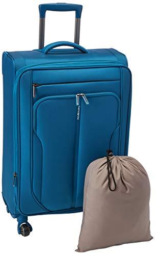 Samsonite Patrono Spinner Unisex Medium Blue Polyester Luggage Bag TSA Approved 108105-1090
