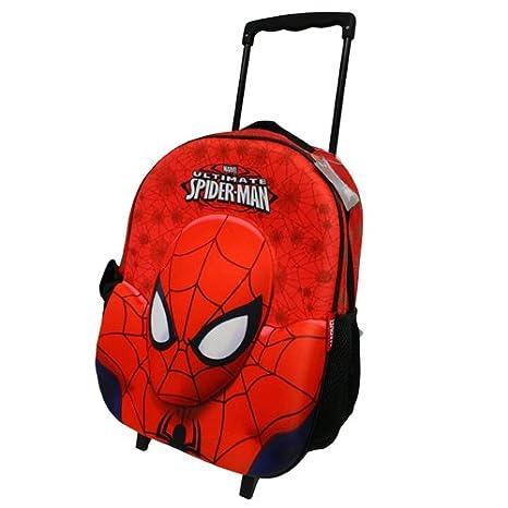 Spiderman carro con ruedas mochila Maletas Niños Niños Mochila Marvel Spider Man: Amazon.es: Juguetes y juegos