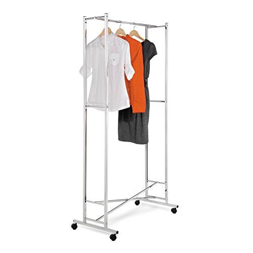Deluxe Garment Rack (Honey-Can-Do GAR-01268 Deluxe Collapsible Garment Rack on locking Casters, Chrome Finish)