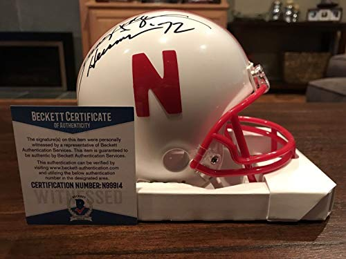 Johnny Rodgers Autographed Signed Memorabilia Nebraska Cornhuskers Mini Helmet Heisman 72 - Beckett Authentic