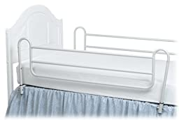 DMI Metal Bed Rails, Twin Size, 1 Pair, White