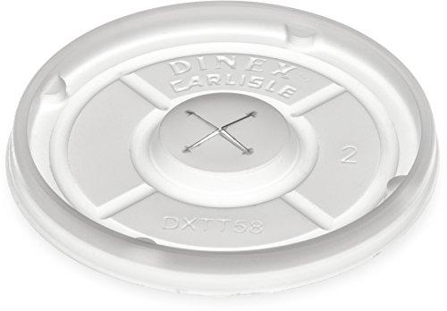 Dinex DXTT58 Polystyrene Disposable Lid, 2-39/64