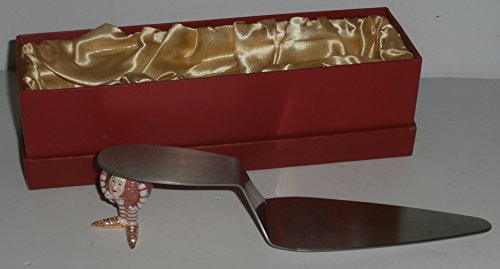 Dept 56 Jeweled Boxes Krinkles Cake Server Red Patience Brewster