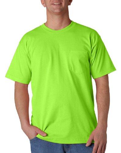 Bayside Mens Union Made Pocket Tee (3015) -Lime Green -XL (3015 Bayside Union)