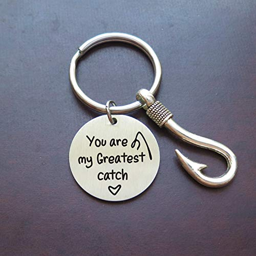 Fathers Day Gift You Are My Greatest Catch Fisherman Keychain,Boyfriend Gift,Anniversary gift