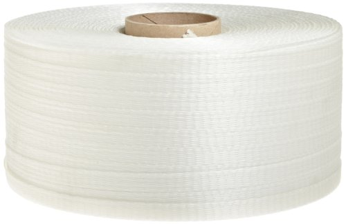 PAC Strapping 50 CW-E-SC Regular Duty Woven Cord Strapping, 3,000' Length, 5/8'' Width, White by PAC Strapping Products