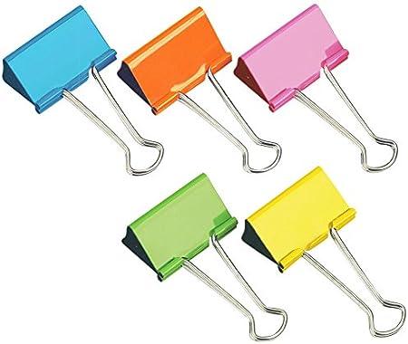Rapesco - Caja de 10 Pinzas/clips de 32mm, hasta 145 hojas de capacidad en varios colores