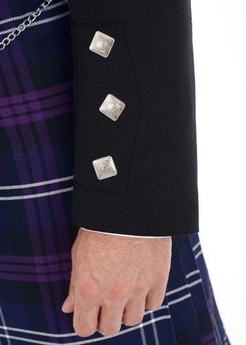 Kilt Society Mens Scottish Black Prince Charlie Kilt Jacket & Vest 52 Regular by Kilt Society (Image #4)