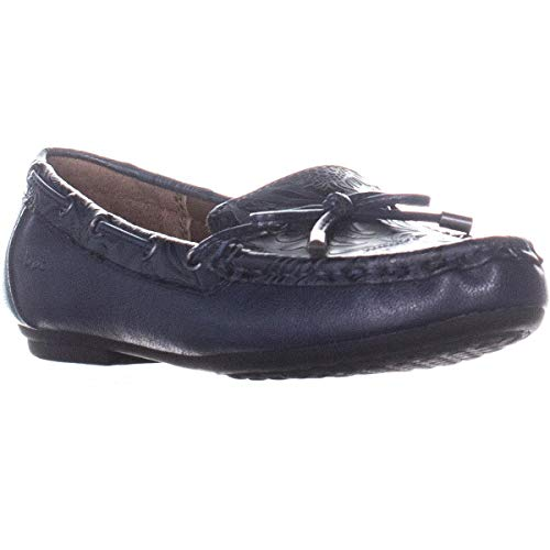 Born B.O.C Carolann Moccasins, Navy, 8 US / 39 EU (Born Womens Loafers)