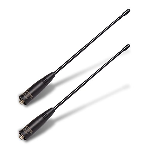 Walkie Talkie Antenna NA-701 8-Inch Dual Band VHF/UHF 144/430Mhz High Gain Sma-Female Handheld Two-way Radio Antenna Compatible with BTECH BAOFENG UV-82 UV-5R BF-F8HP Original Replacement (2 Pack)