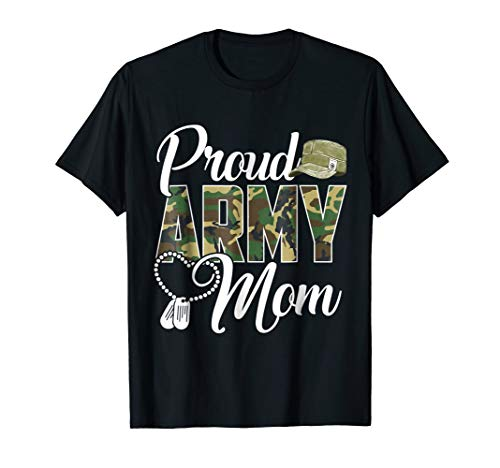 (Proud Army Mom Shirt Gift)