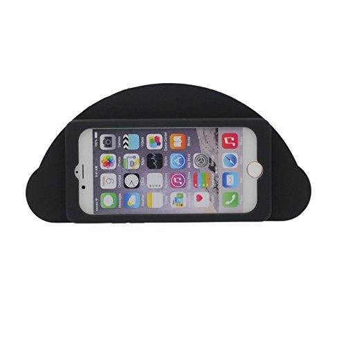 Coque Housse de Protection pour Apple iPhone 7 4.7 inch Doux Silicone Case Anti choc Arc en Ciel Forme avec 1 Silicone Kickstand