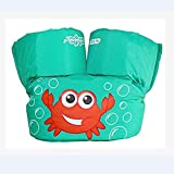 GonPi 1 Piece New Summer Bath Toy Cartoon Life Jacket Safety Vest Puddle Jumper Swimming Snorkeling Toy for Kids Baby