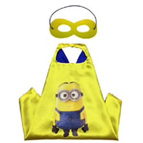 Blingbling Superhero Cape & MASK Set Kids Childrens Halloween Costume Minions -