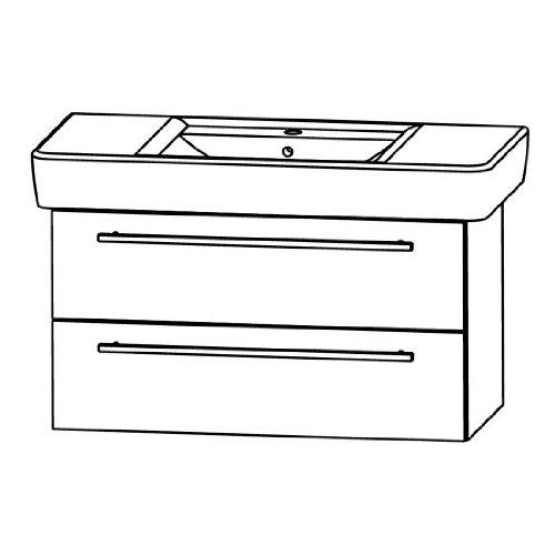 Puris Kera Trends Waschtisch + Unterschrank (SETRP1001), Weiß, 90 cm
