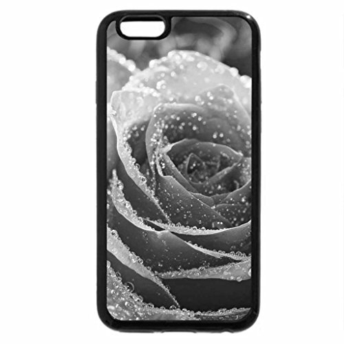 iPhone 6S Case, iPhone 6 Case (Black & White) - Crystal dew rose