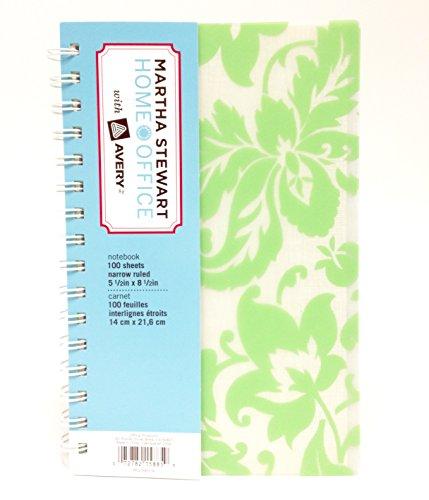 Martha Stewart Home Office Notebooks Damask Green (Pack Of 2)